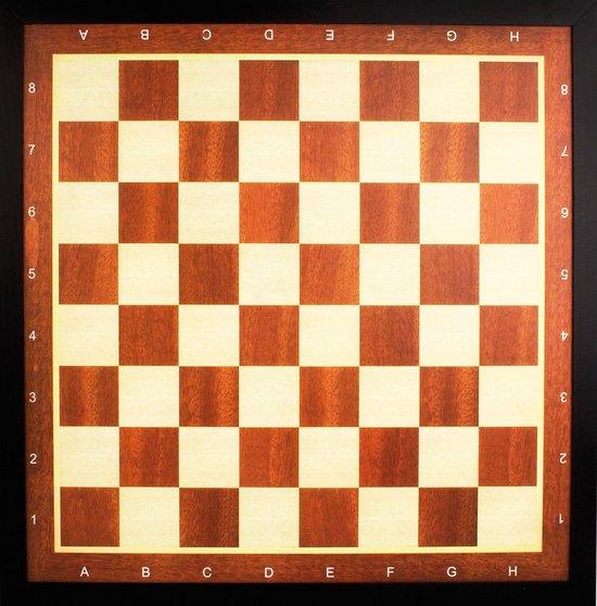 Abbey Game Dam/Schaakbord met Rand - Deluxe - Bruin