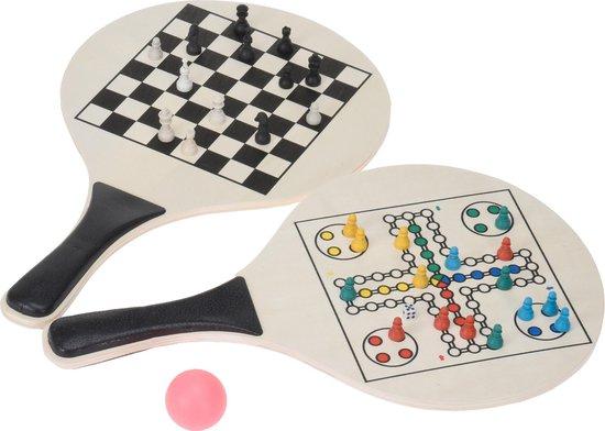 Beachballset Game - Ludo en schaken inclusief spelaccessoires