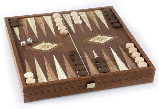 Classic Style 2-in-1 combo Schaken Backgammon 27x27 cm Top Kwaliteit
