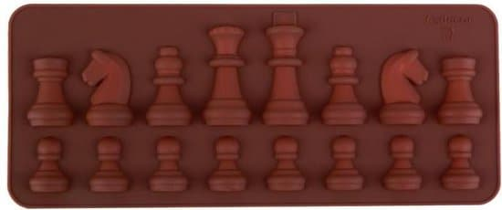 LeuksteWinkeltje - Chocolade vorm schaak schaken - siliconen vorm mal voor ijsblokjes ijsklontjes chocolade fondant chocoladevorm