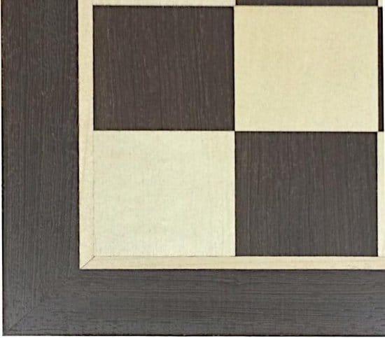 Schaakbord Staunton maat 5 hout wenge en esdoorn (50 mm velden)