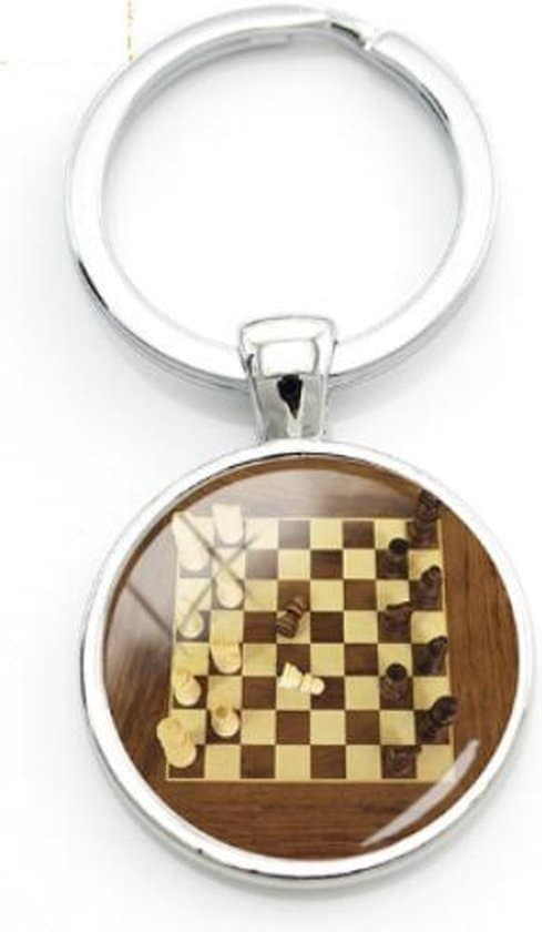 Schaken sleutelhanger - geschenk - gift - verrassing - verjaardag - feestdag - kado - cadeau - sport - hobby - denksport - schaakmat - schaakbord - koning