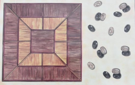 Spelbord Tafellaken – Tafelzeil – Tafelkleed – Sinterklaas cadeau - Ganzenbord – Schaken – Gezelschapsspelen- Afwasbaar – 150cm x 160cm - Opgerold op koker