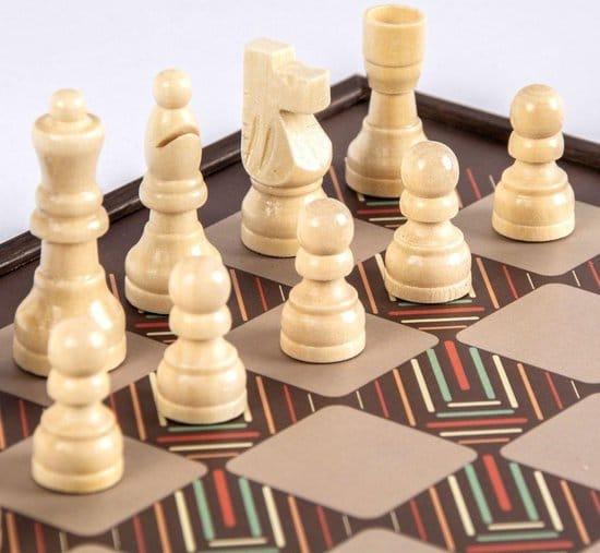 Vintage Style - 4-in-1 combo backgammon-schaak-dam-ludo-snakes Top Kwaliteit