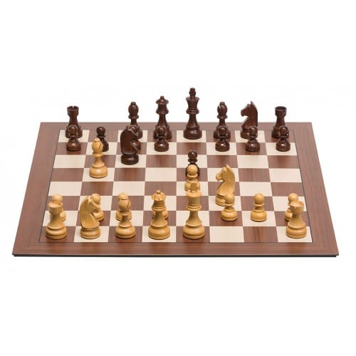 DGT Smart Board without indices and wooden Timeless Electronic Chess Pieces-500x500