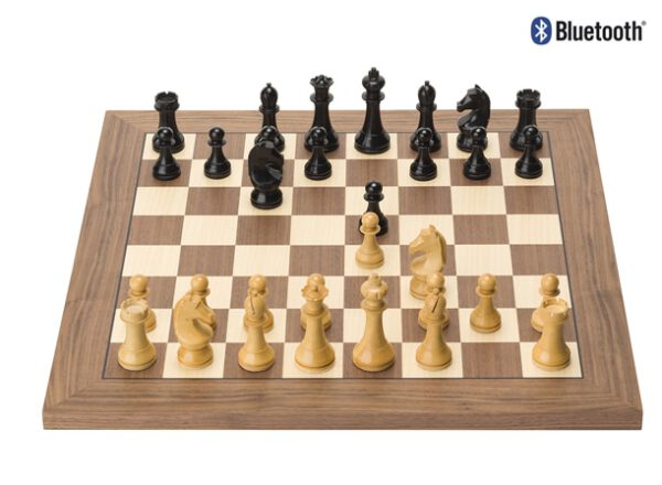 DGT e-Board Walnut Official FIDE Set with Bluetooth logo
