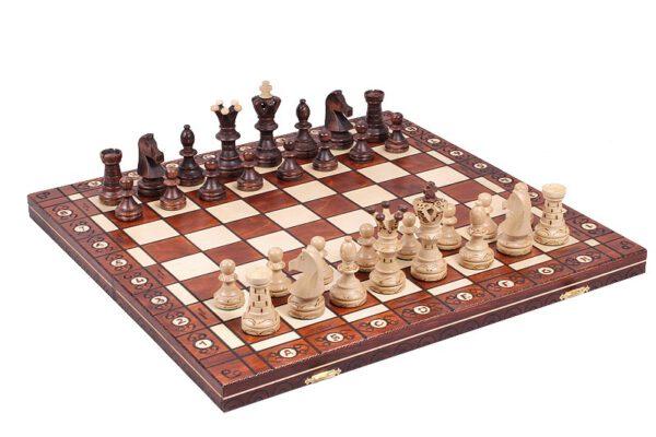 Ambassador luxe houten schaakspel CHW1