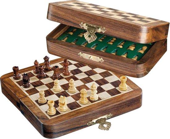 Philos schaakset reisformaat mini veld 12mm