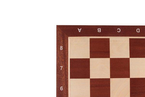 Schaakbord Professioneel Sapele Esdoorn met coördinaten (Maat 4)