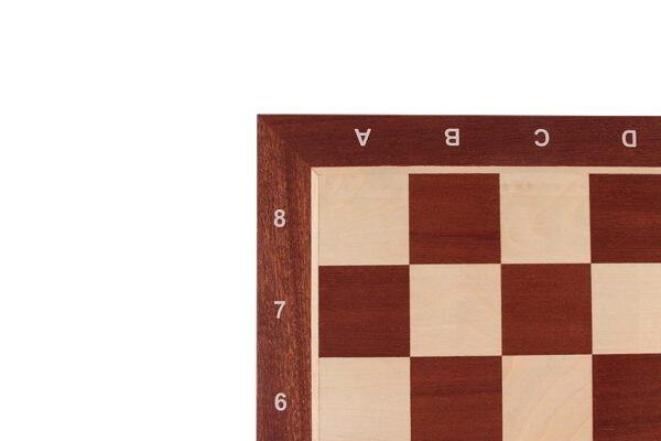 Schaakbord Professioneel Sapele Esdoorn met coördinaten (Maat 6)