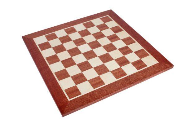 Schaakbord Professioneel Sapele Esdoorn zonder coördinaten (Maat 6)
