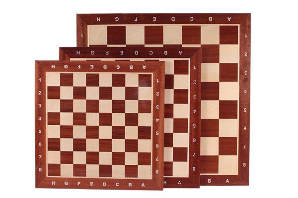 Schaakbord professioneel Sapele Esdoorn met coördinaten maat 5 - 2