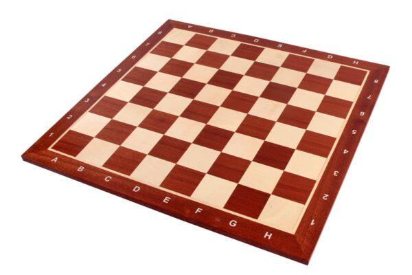 Schaakbord professioneel Sapele Esdoorn met coördinaten maat 5 - 5