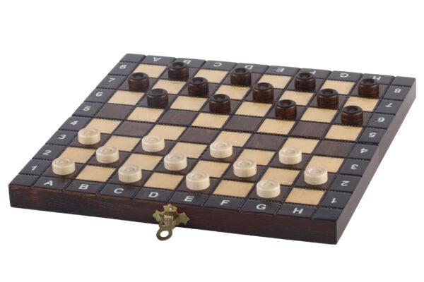 Luxe houten schaakset Schoolformaat - Veldmaat 26 mm dammen