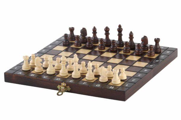 Luxe houten schaakset Schoolformaat - Veldmaat 26 mm schaken