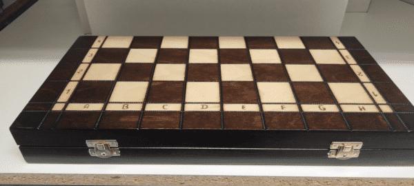Luxe schaakset met backgammon